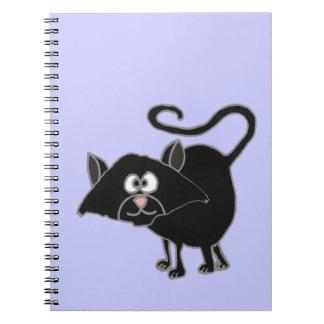 VW bande dessinée drôle de chat noir Carnet