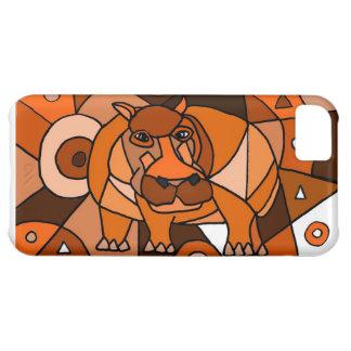 VW conception d'art abstrait d'hippopotame Coque iPhone 5C