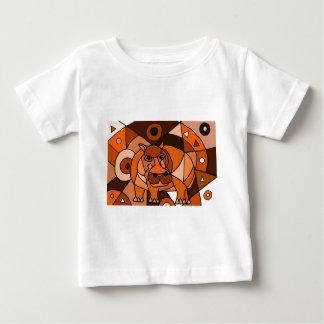 VW conception d'art abstrait d'hippopotame T-shirt
