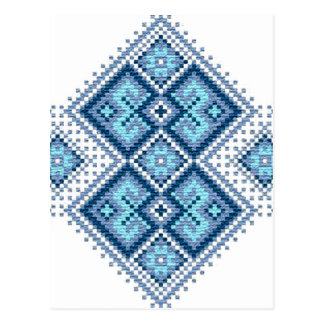 Vyshyvanka ukrainien de bleu de broderie carte postale