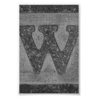W3 4x6 noir et blanc de photographie de lettre d'a