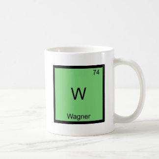 W - T-shirt drôle de symbole d'élément de chimie Mug Blanc