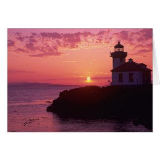 WA, île de San Juan, four à chaux Lighthouse, Carte De Vœux