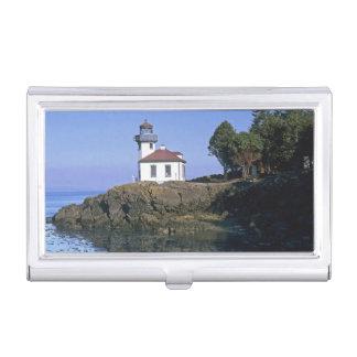 WA, île de San Juan, phare de four à chaux Étui Pour Cartes De Visite