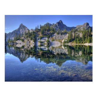 WA, région sauvage alpine de lacs, lac gem, avec 2 Carte Postale