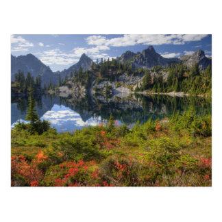 WA, région sauvage alpine de lacs, lac gem, avec Carte Postale