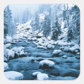 WA, réserve forestière de Wenatchee, cascade Sticker Carré