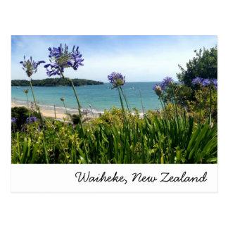Waiheke, carte postale de la Nouvelle Zélande