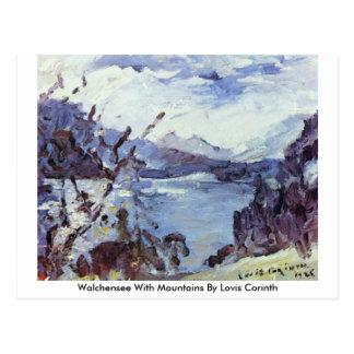 Walchensee avec des montagnes par Lovis Corinthe Carte Postale
