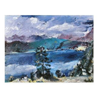 Walchensee avec le mélèze par Lovis Corinthe Carte Postale