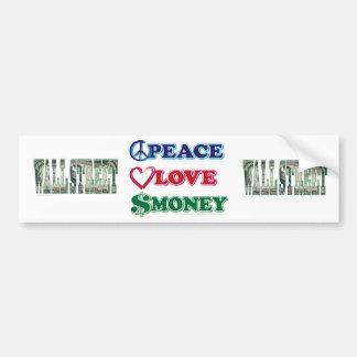Wall Street/argent amour de paix Autocollant De Voiture