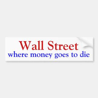 Wall Street où l argent va mourir Adhésifs Pour Voiture