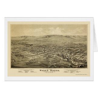 Walla Walla, carte panoramique de WA - 1876