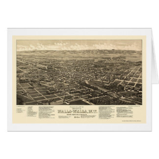 Walla Walla, carte panoramique de WA - 1884
