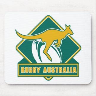 wallaby de kangourou de l'australie de rugby tapis de souris