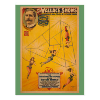 Wallace montre l'affiche de rotation triple de carte postale