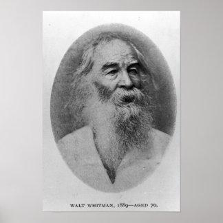 Walt Whitman, photographié en 1889 Poster