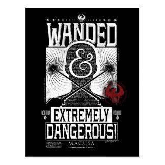Wanded et affiche voulue extrêmement dangereuse - carte postale