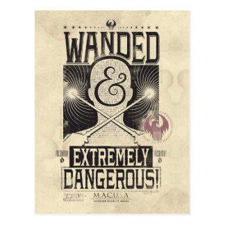 Wanded et affiche voulue extrêmement dangereuse - cartes postales