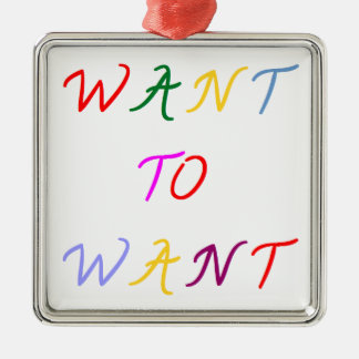 want to want multicolore ornement carré argenté
