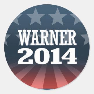 WARNER 2014 AUTOCOLLANT ROND