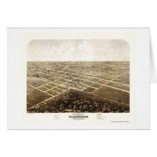 Warrensburg, carte panoramique de MOIS - 1869