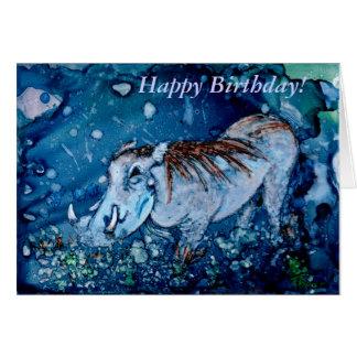 Warthog bleu carte de vœux