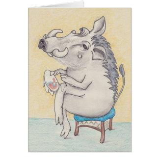 Warthog d'amusement avec la carte de broderie