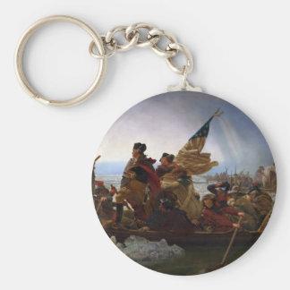 Washington art vintage croisant Delaware - USA Porte-clé Rond