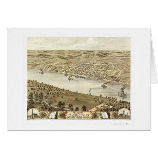 Washington, carte panoramique de MOIS - 1869