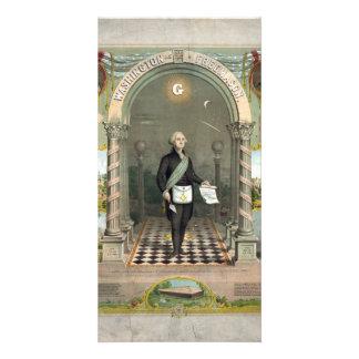 """""""Washington cartes photos en tant que franc-maçon"""" Cartes De Vœux Avec Photo"""