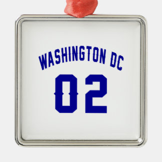 Washington DC. 2 Ornement Carré Argenté