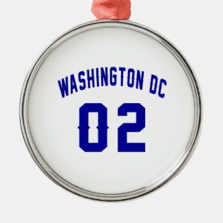 Washington DC. 2 Ornement Rond Argenté