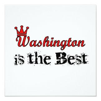Washington est le meilleur carton d'invitation  13,33 cm