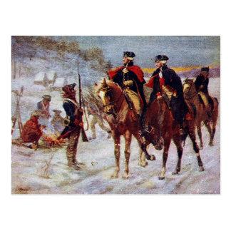 Washington et Lafayette au ~ de forge de vallée Carte Postale