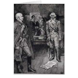 Washington refusant une dictature carte de vœux