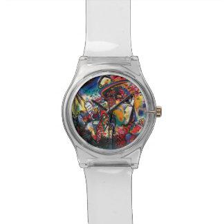 Wassily Kandinsky - art abstrait de paysage urbain Montres Bracelet