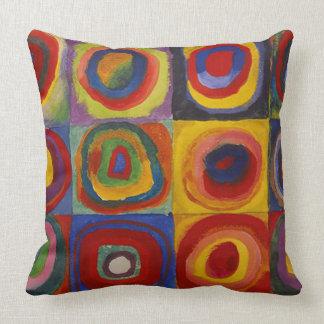 Wassily Kandinsky-Farbstudie Quadrate Oreillers