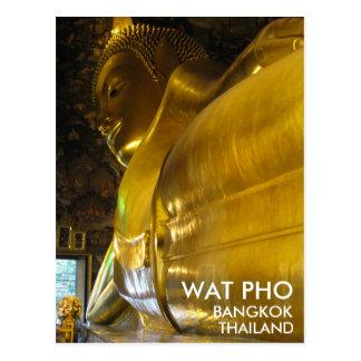 Wat Pho Bouddha d'or étendu Bangkok Thaïlande Carte Postale