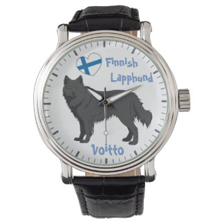 Watch finlandais Lapphund black Lapinkoira Montre