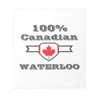 Waterloo 100% bloc-note