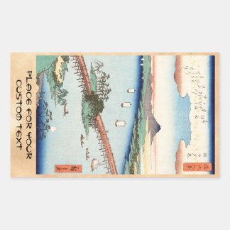 Waterscape vintage japonais frais de paysage d'uki autocollant