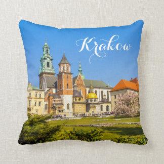 Wawel, Cracovie, Pologne, coussin de voyage