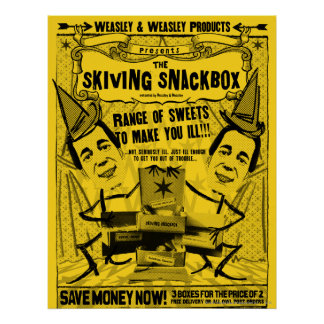 Weasley et produits de weasley poster