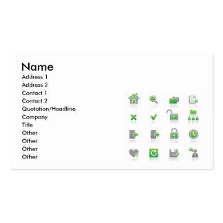 Web et Internet Icons2, nom, adresse 1, Addre… Cartes De Visite Personnelles