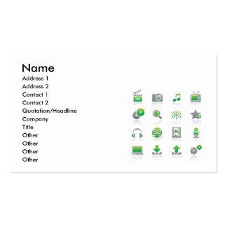 Web et Internet Icons6, nom, adresse 1, Addre… Carte De Visite
