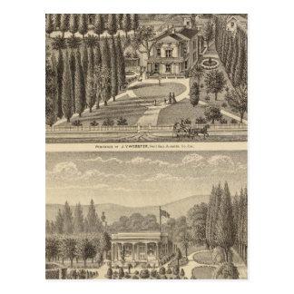 Webster, résidences de blaireau cartes postales