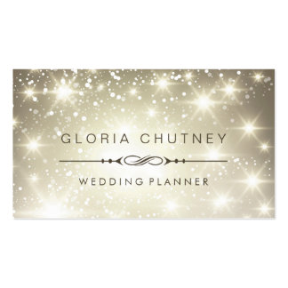 Wedding planner - scintillement de scintillement carte de visite standard