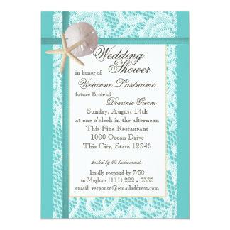 Wedding shower de thème d'océan faire-part personnalisés