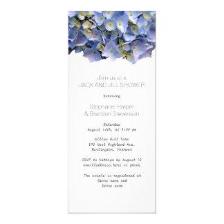 Wedding shower floral bleu de Jack et de Jill Carton D'invitation 10,16 Cm X 23,49 Cm
